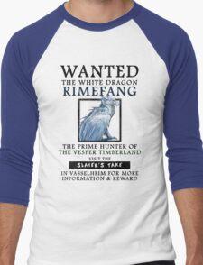 WANTED: The White Dragon, Rimefang - Critical Role Fan Design Men's Baseball ¾ T-Shirt