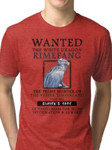 WANTED: The White Dragon, Rimefang - Critical Role Fan Design Tri-blend T-Shirt