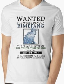 WANTED: The White Dragon, Rimefang - Critical Role Fan Design Mens V-Neck T-Shirt