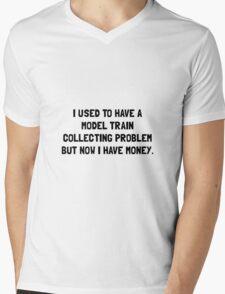 Money Model Train Problem Mens V-Neck T-Shirt