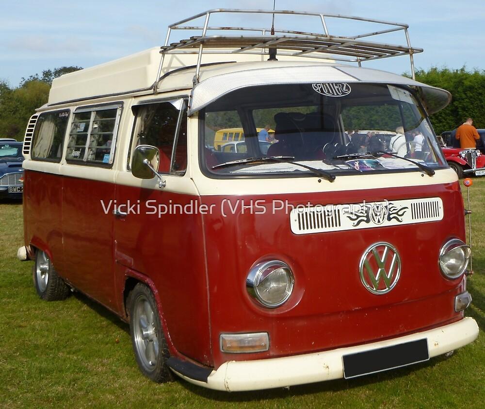 Red Camper Van! by Vicki Spindler (VHS Photography)