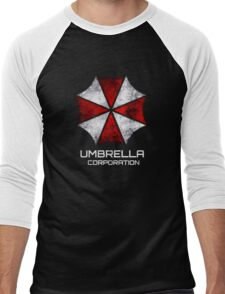 Umbrella Corp. Vintage Men's Baseball ¾ T-Shirt