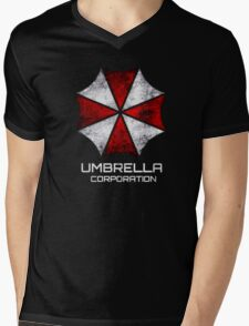 Umbrella Corp. Vintage Mens V-Neck T-Shirt