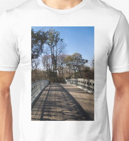 Central Park Bridge Shadows Unisex T-Shirt