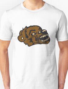 undead face head zombie blood horror halloween scary evil monster hug funny sweet cute teddy bear Unisex T-Shirt