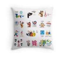 olimpic games mascots juegos olímpicos mascotas sports Throw Pillow