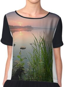 Reeds in the Calm Chiffon Top