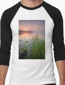Reeds in the Calm Men's Baseball ¾ T-Shirt