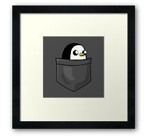 There's an evil penguin in my pocket! Framed Print