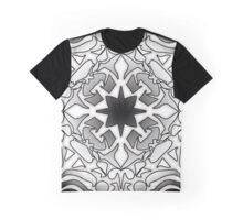 Black and White Abstract Pattern #2 Graphic T-Shirt