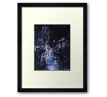 Night Wanderer Oil Painting Framed Print