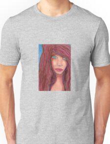 Oil Pastel Girl Portrait Unisex T-Shirt