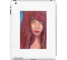 Oil Pastel Girl Portrait iPad Case/Skin