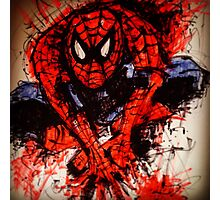 Spider-Man mash up by Fanny Gogh Photographic Print