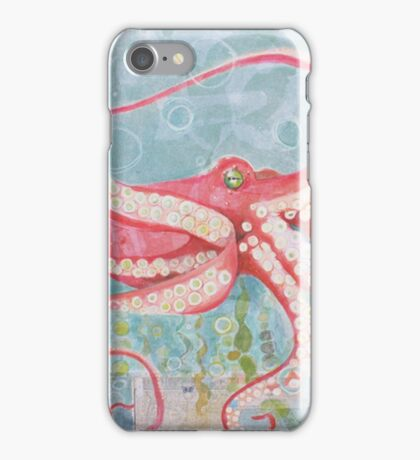 Red Octopus  iPhone Case/Skin