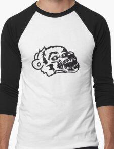 undead face head zombie blood horror halloween scary evil monster hug funny sweet cute teddy bear Men's Baseball ¾ T-Shirt