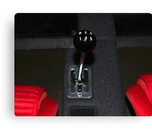 Ferrari F40 Gearshift Canvas Print