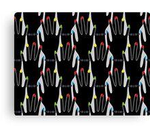 Hands silhouette seamless pattern. Stylish trend design  Canvas Print