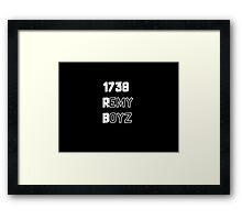 Remy Boyz 1738 White Framed Print