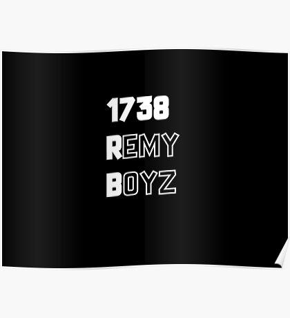 Remy Boyz 1738 White Poster