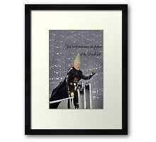 Power of the Dank side Framed Print
