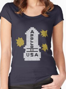 Hello Apollo 11 (The Shining) Sweater Texture 2 Danny Torrence Women's Fitted Scoop T-Shirt