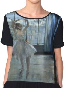 Edgar Degas - Dancer In Front Of A Window Chiffon Top