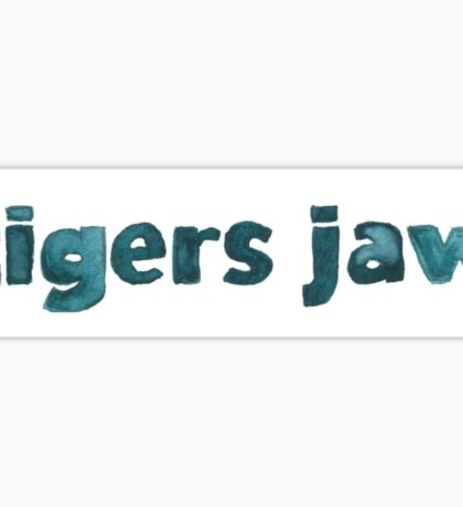 Tigers Jaw Memory Music Logo Sticker