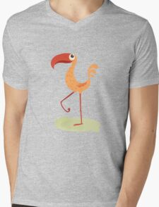 Cute orange bird Mens V-Neck T-Shirt