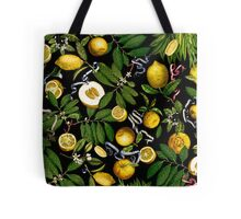 Lemon Tree - Black Tote Bag