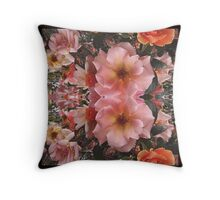 Heirloom Rose Reflection Throw Pillow