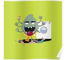 Sock Monster Poster