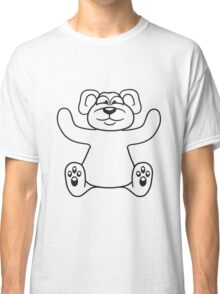 embracing funny sitting cute little teddy thick sweet cuddly comic cartoon Classic T-Shirt