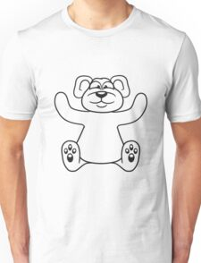 embracing funny sitting cute little teddy thick sweet cuddly comic cartoon Unisex T-Shirt