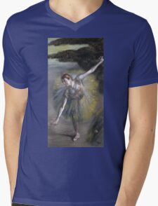 Edgar Degas - Dancer In Green Mens V-Neck T-Shirt