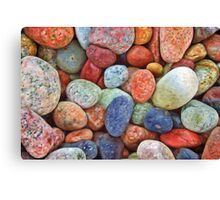 Colored Stones Pattern Canvas Print