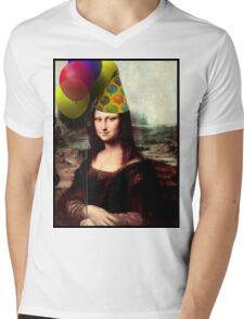 Mona Lisa Birthday  Mens V-Neck T-Shirt
