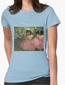 Edgar Degas - Dancers In Pink Womens Fitted T-Shirt