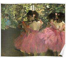Edgar Degas - Dancers In Pink Poster