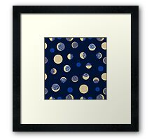 Moon phases. Crescent growth. Framed Print