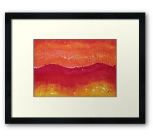 Red Saddle original painting Framed Print