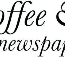 Coffee and a Newspaper Sticker