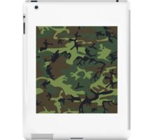 Green Camouflage Pattern iPad Case/Skin