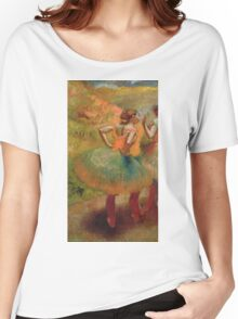 Edgar Degas - Dancers Wearing Green Skirts Women's Relaxed Fit T-Shirt