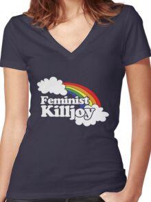Feminist Killjoy Women's Fitted V-Neck T-Shirt