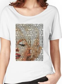 Marilyn Monroe - Sigh - Stone Rock'd Art By Sharon Cummings Women's Relaxed Fit T-Shirt