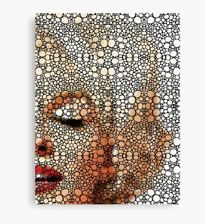 Marilyn Monroe - Sigh - Stone Rock'd Art By Sharon Cummings Canvas Print