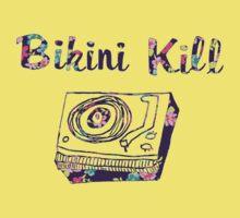 Floral Bikini Kill Design Kids Tee