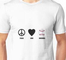 Peace Love Baseball Unisex T-Shirt