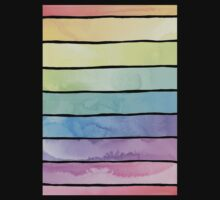 Summer Sorbet Rainbow Stripes Kids Tee